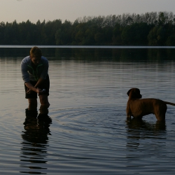 erste Schwimmstunde